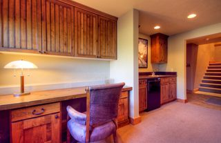 Big Sky house photo - Desk and wet bar in bonus space