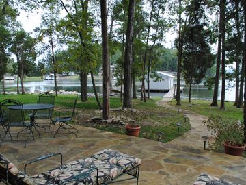 Guntersville Lake house rental - Large Patio to Grill and Chill. Easy walk to Lake.