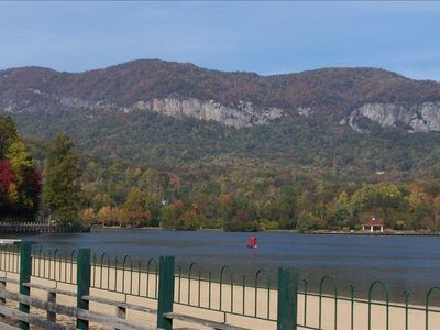 The beach at Lake Lure! Across from the Historic 1927 Inn. Walking trails too!