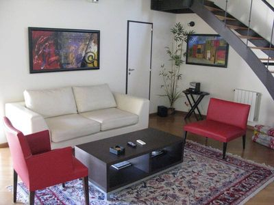 living Room with original art from Argentine artists