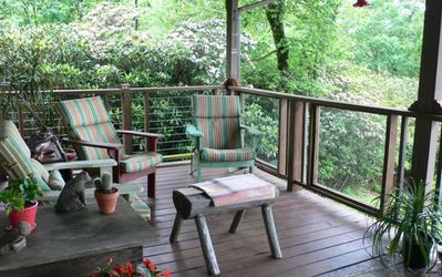 Over 1200 square feet of covered deck & Glorious View!!
