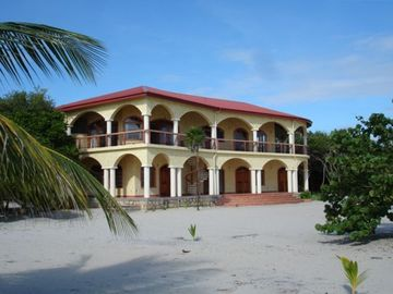 Placencia villa rental - The Villa viewed from the beach