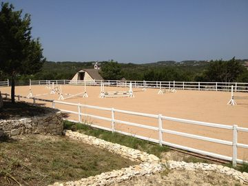 Estate Equestrian Arena. Enjoy a ride on a paint, or just watch others perform.