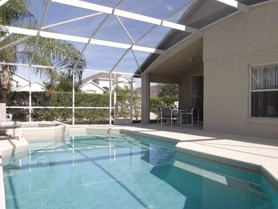Oak Island villa rental - Pool Spa and Lanai