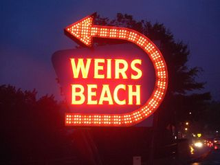 Weirs Beach condo photo - Entrance to the boardwalk, pavilion, shopping, dining, games and more!