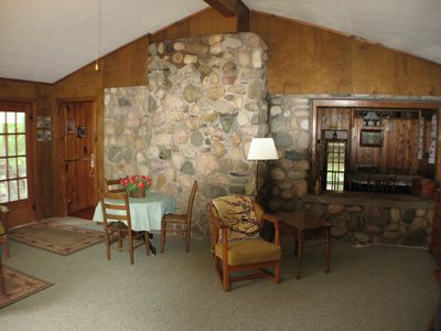 Glen Arbor cottage rental - Huge family room approx 18ft by 18ft. Plenty of room to sit/relax, watch TV