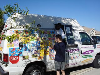 Clermont villa photo - Yummy ice-cream truck that passes right in front of the villa.