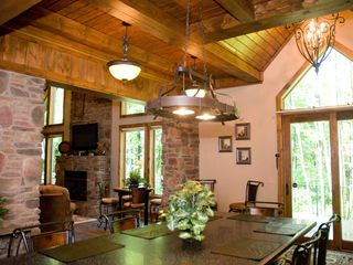 Seven Springs house photo - View from kitchen into Great Room and rear deck