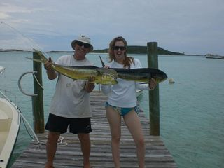 Staniel Cay cottage photo - Cottage guests with catch of the day