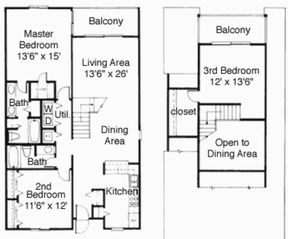Private Homes condo photo - 3 Bedroom Floor Plan
