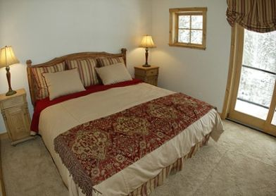 Master Suite offers King Bed, Fireplace,  Attached Bath with Jacuzzi Tub.