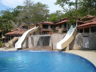 Community Pool with Fun-filled Water Slides
