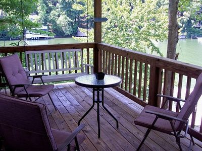 Great Covered Deck w/Porch Swing Overlooking Lake Lure