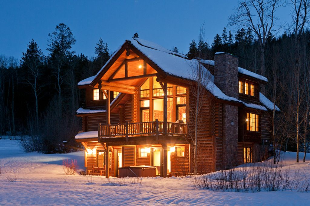 4 bedroom 4 5 bath log cabin in teton vrbo for 5 bedroom log homes