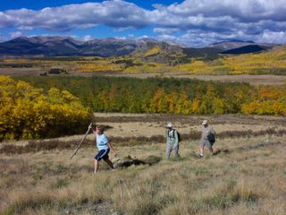 Hiking the Colorado Trail near our house - Jefferson cabin vacation rental photo