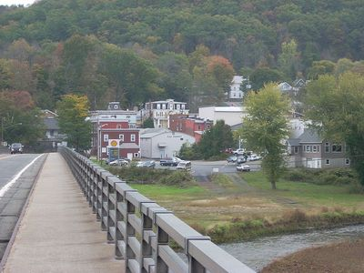 Walk across bridge to Callicoon