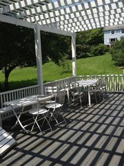 Coxsackie farmhouse photo - al fresco dining on the deck