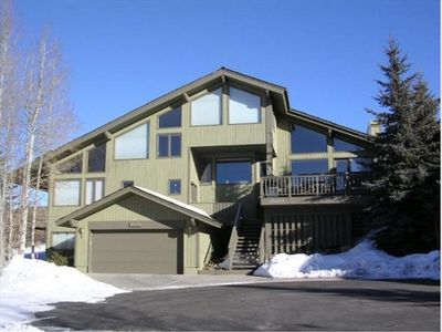 Luxurious Deer Valley home with 6 levels, outdoor hot tub, garage and patio.