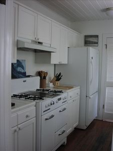 Kitchen with classic O'Keefe and  Merrit gas stove.