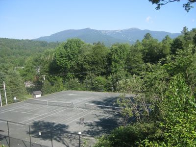 Several tennis courts on property