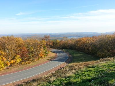 Albrightsville chalet rental - country roads, view from Penn's Peak