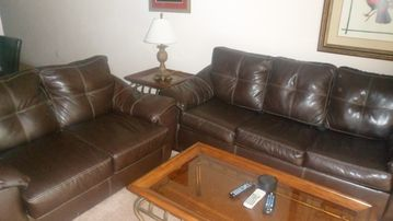 Upgraded leather sofas