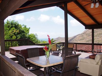 Where you will spend most of your time, enjoy the deck, ocean-mountain views