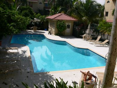 Beautiful pool with private access from townhouse