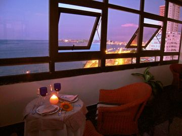 Romantic dinner in the veranda