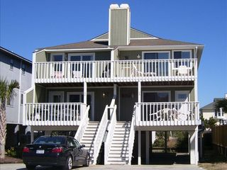 Wrightsville Beach condo photo - Enjoy the Views from the Beach Side of our Townhouse-Style Duplex