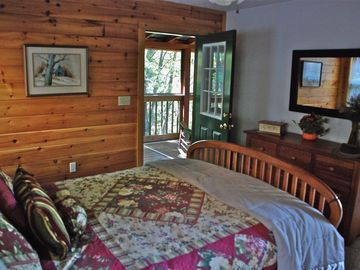 Master bedroom with private screened porch