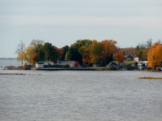 Oneida Lake cottage photo - View from the deck toward App's marina.
