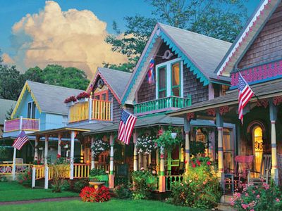 Famous and enchanting gingerbread cottages, a must-see in downtown Oak Bluffs