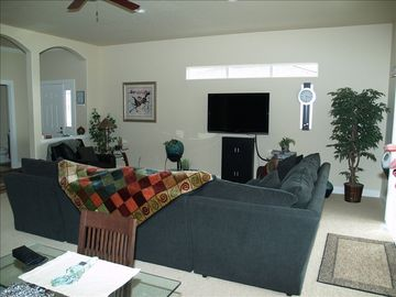 "Large Living room with 52"" plasma TV"