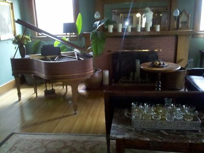 Piano/Fireplace in the Parlor