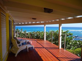 St. Croix house photo - Large Gallery with view to the sea.