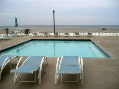 One of Two Pools overlooking the Gulf - 1 pool is heated during the Winter