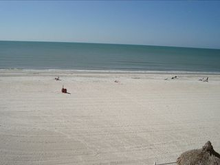 Redington Shores condo photo - Beach view from condo balcony, master, living room, dining area, kitchen