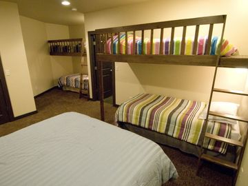 Lower level - bunk room.