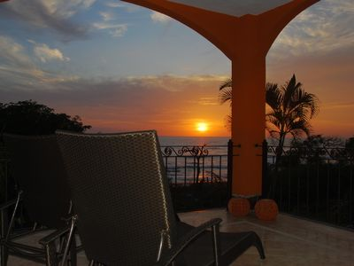 Enjoy the sunsets from your balcony on the ocean.