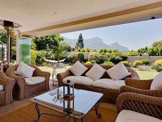 Constantia villa photo - Front Patio with views of backdrop of Table Mountain