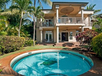 Enjoy a fantastic Maui holiday! Pool and Spa surrounded by tropical foliage.