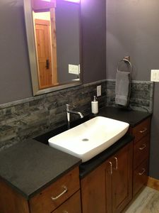 Another view of the remodeled second bathroom