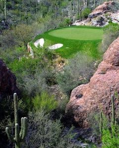 Hole 3 of Mountain Course at nearby Ventana Canyon Golf Course