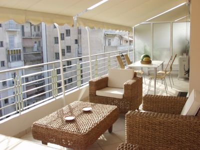 3 bd 2 ba Duplex Penthouse, City Center with 2 Verandas and Roof Terrace