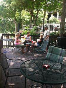 New Braunfels lodge rental - Just hanging out with the guitar and drinks. Good times