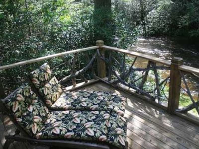 Open Deck overlooking Big Snowbird Creek