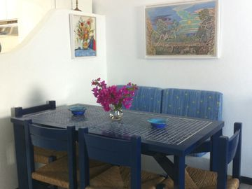 Dining table in the living-room