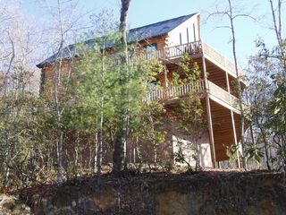 Lake Nantahala lodge photo - View of House from Water Access