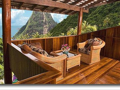 Soufriere villa rental - View from bedroom